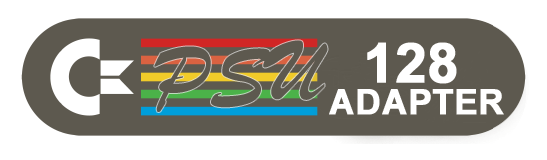 C64 to C128 adapter PSU Genuine Logo